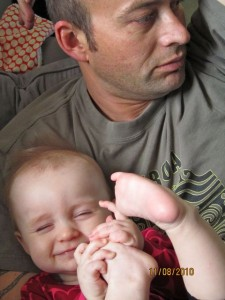 smiling with daddy