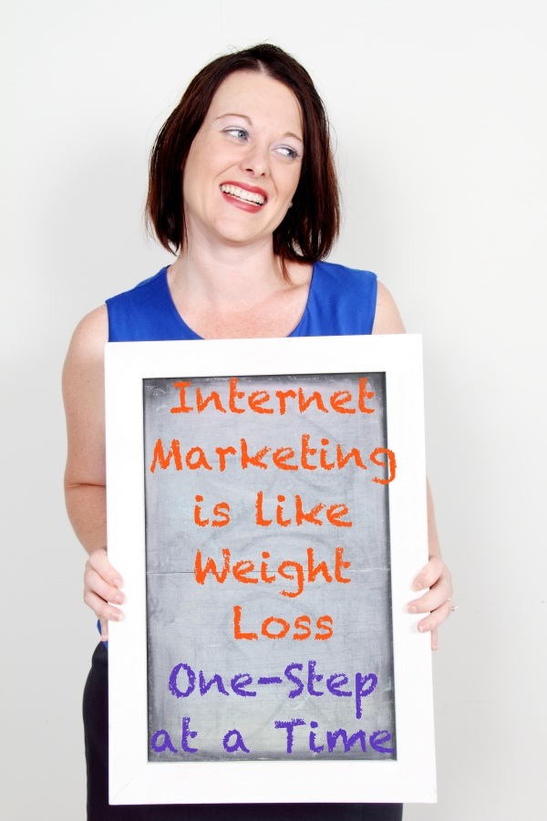 Losing weight has the same similarities to starting an online business
