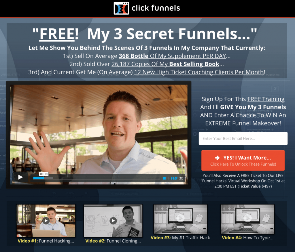 Optin Pages, Sales Pages & Funnels